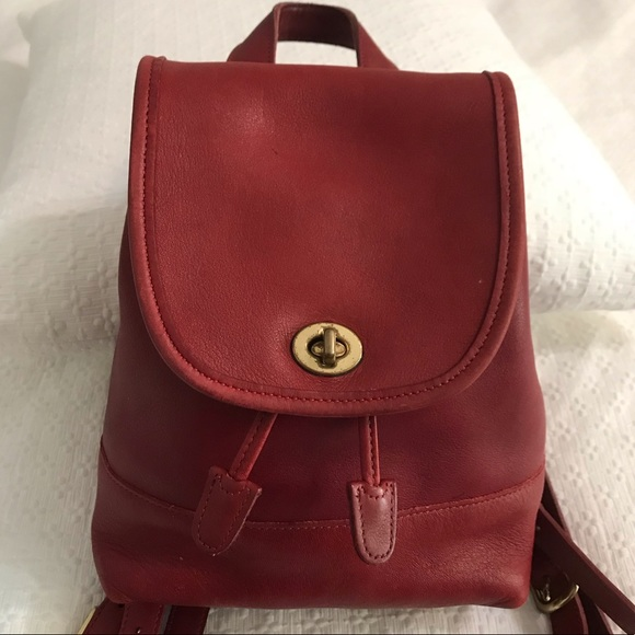 6a8297bf0bfb4 Coach Bags   Vintage Daypackbackpack 9960 Red   Poshmark